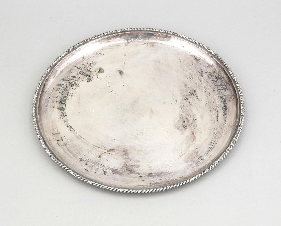 Round Tray, German, 20th century, hallmarked M.H.