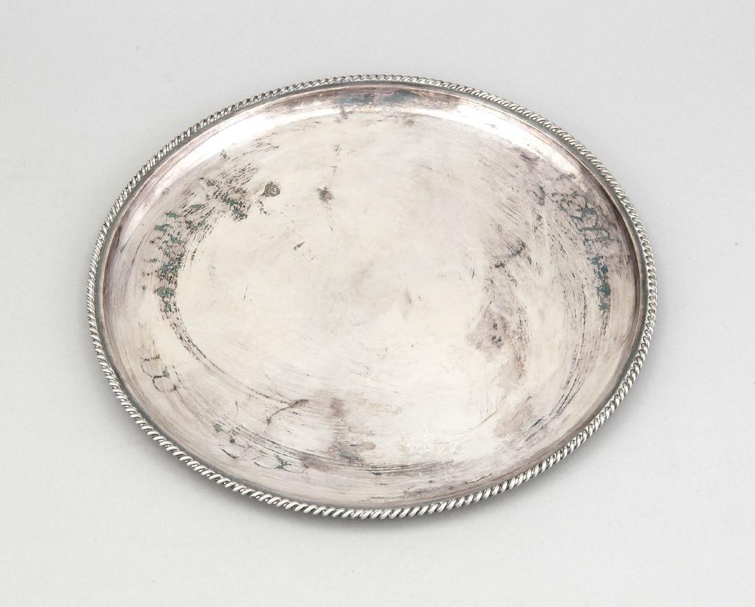 Round Tray, German, 20th century, hallmarked M.H.