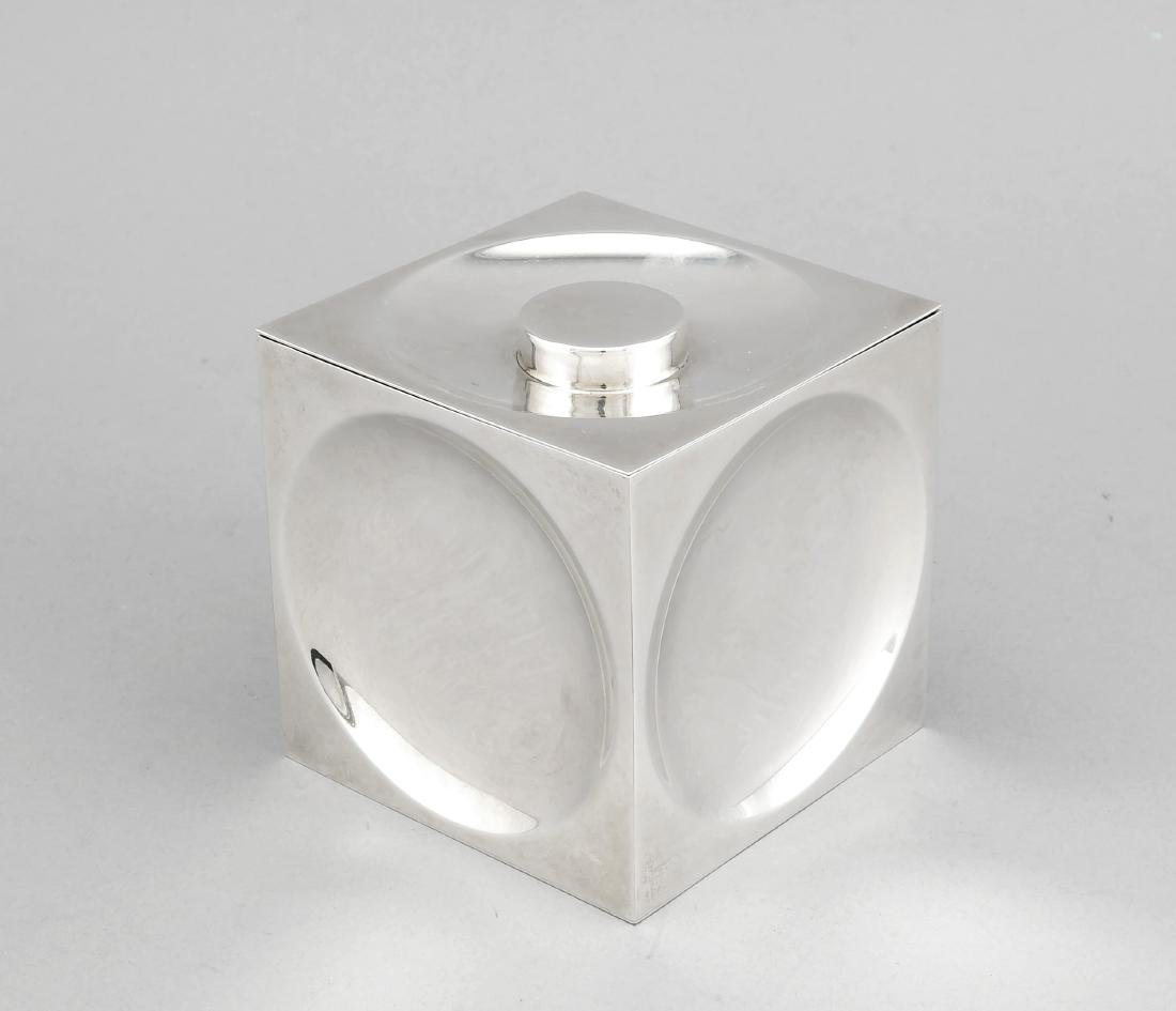 Cube-shaped tea caddy, USA, 2nd half of the 20th