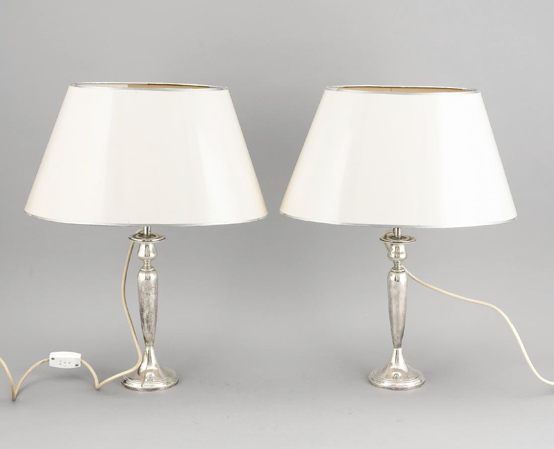 Pair of table lamps, presumably USA, 20th cent.,