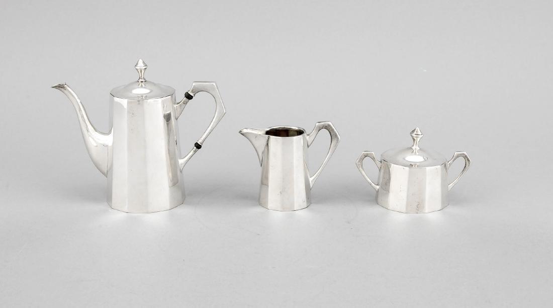 Puppen-Kaffeeservice, Silber (800/000), tw. innen