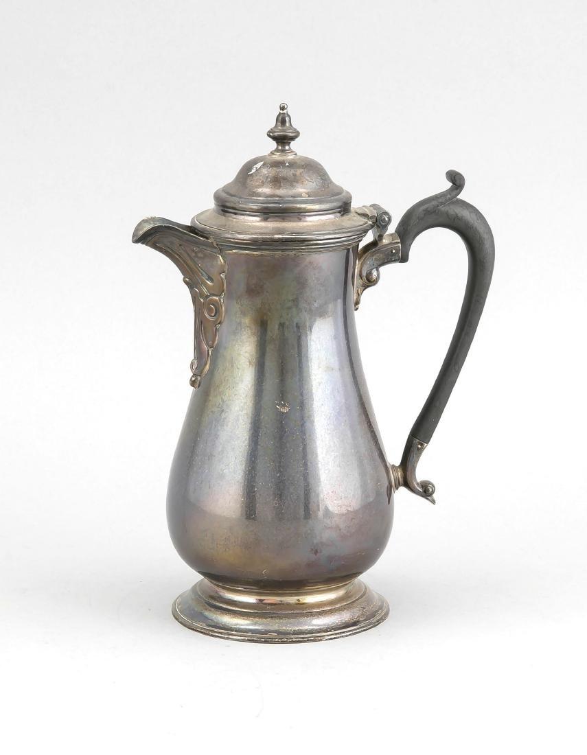 Coffee pot, England, 1929, hallmarked Harrison Brothers