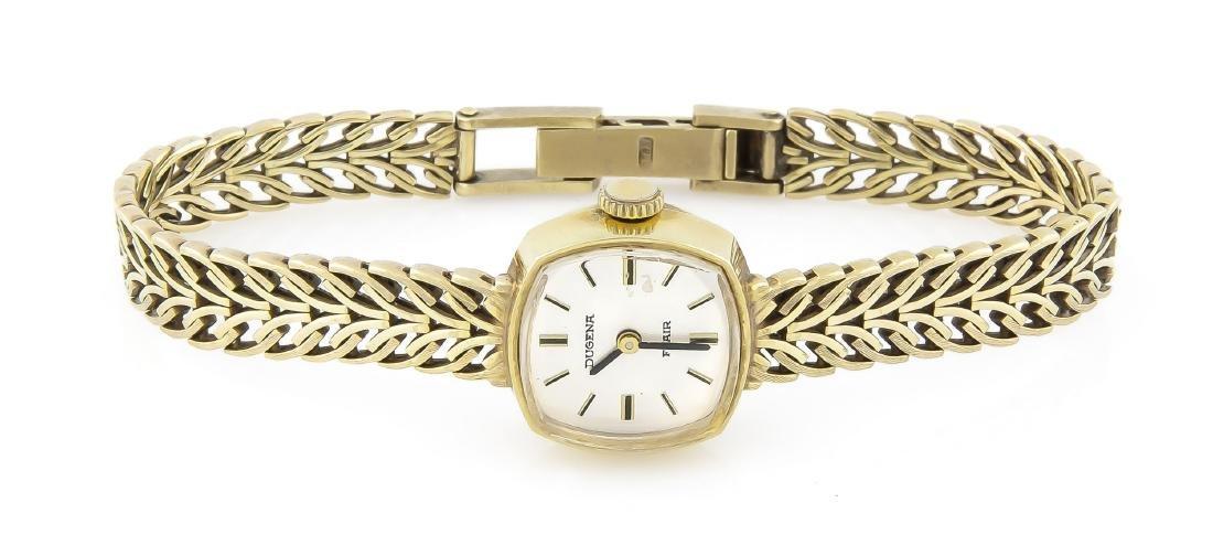 Damenuhr 585 Gold mit Goldband, Dugena Flair, - 2