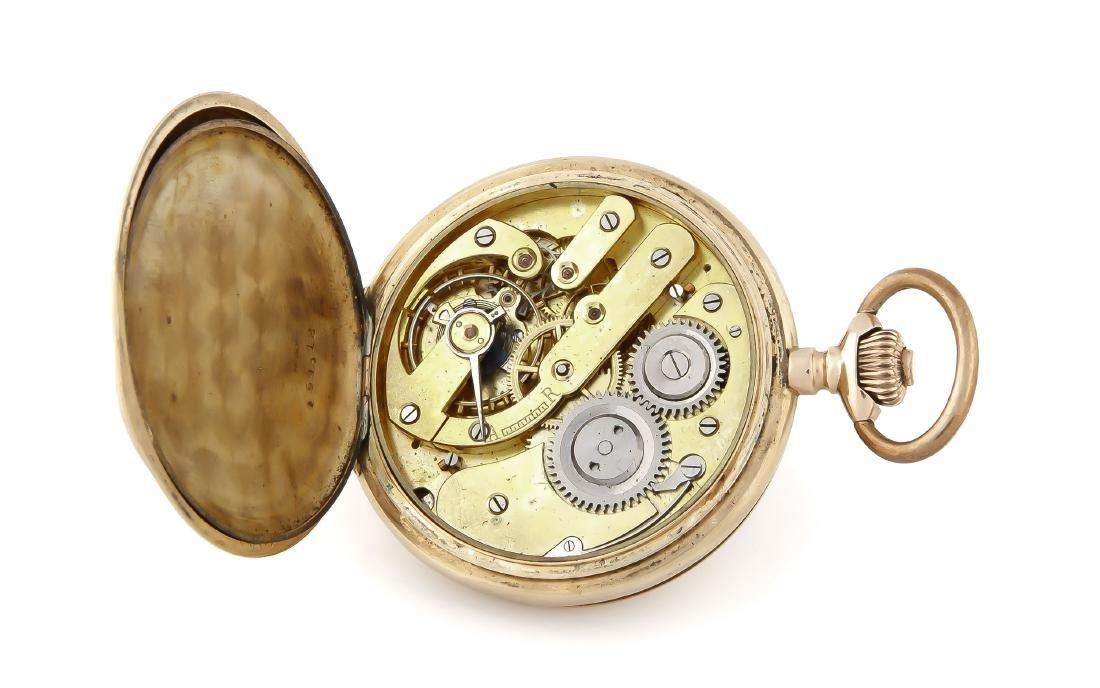Herren-Sprungdeckeltaschenuhr, Gehäuse und 2 Deckel 585 - 2