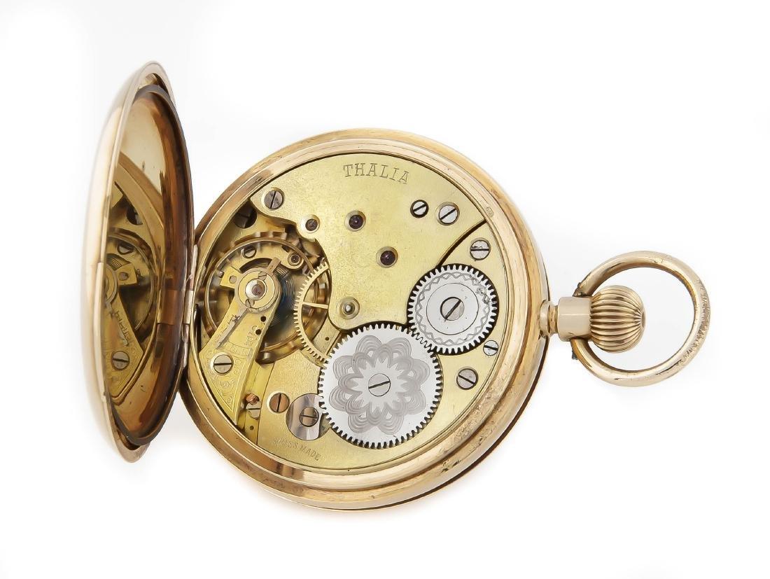 Herren-Sprungdeckeltaschenuhr, Thalia, 585 Gold, - 2