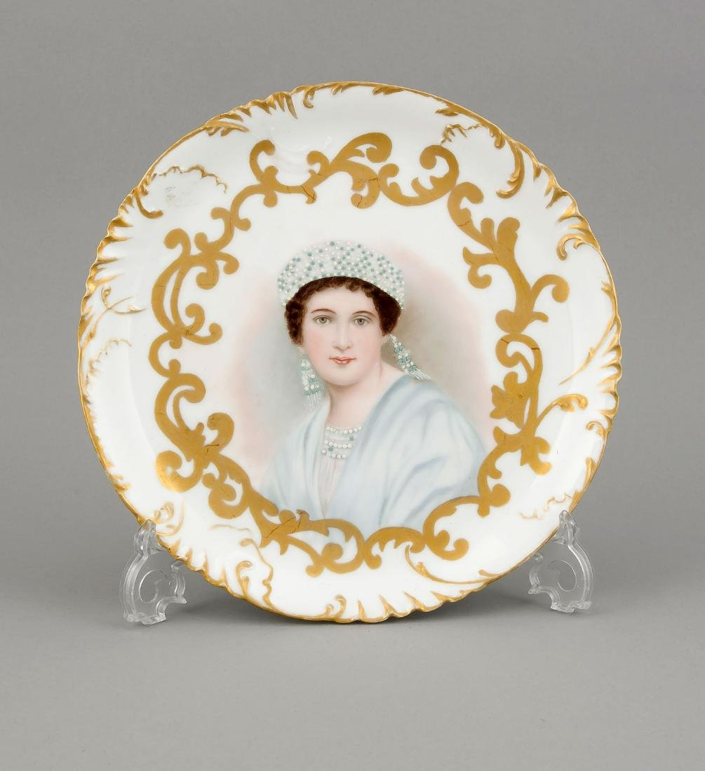 Portrait plate, Haviland, Limoges, late 19th century,