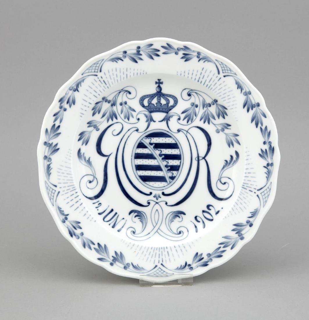 Display plate of the porcelain manufactory Meissen on