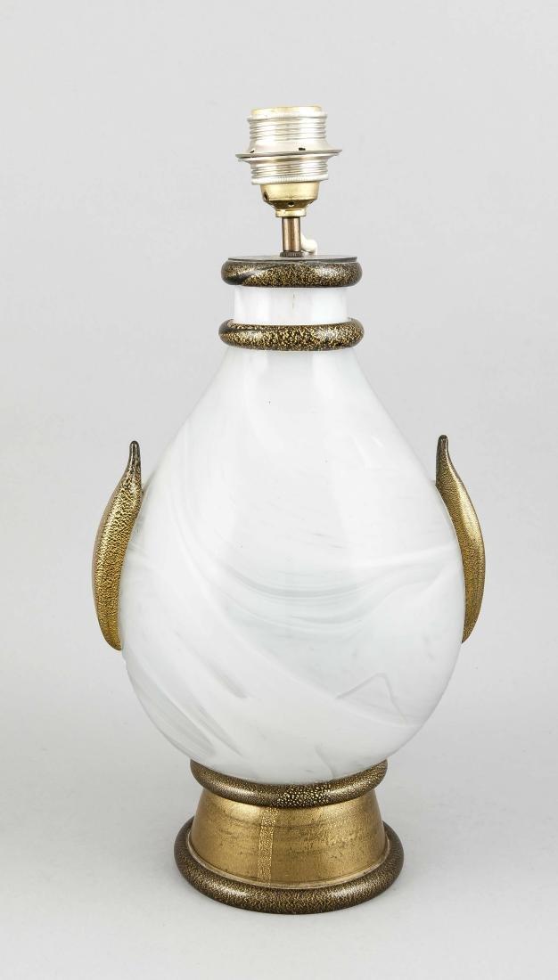 Table lamp, Murano, 20th cent., preumably Barovier &