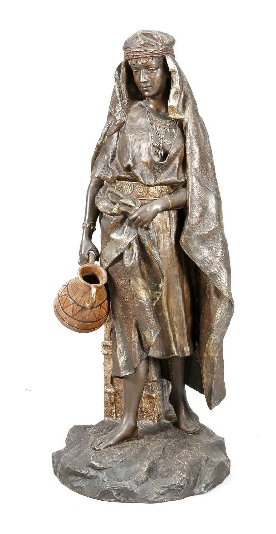 Orientalist Ende 19. Jh., große Skulptur einer