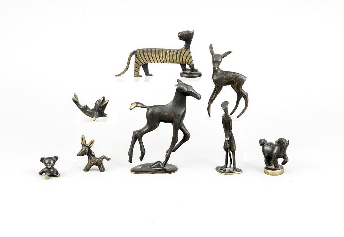 Konvolut von Tierfiguren, Kleinbronzen von Hagenauer