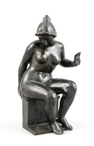 Aristide Maillol (1861-1944), ''Leda'', sitting on a