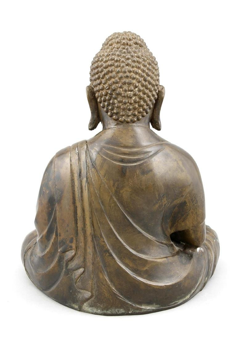 A tall seated Buddha Padmasana, China/Tibet, 20th c., - 2