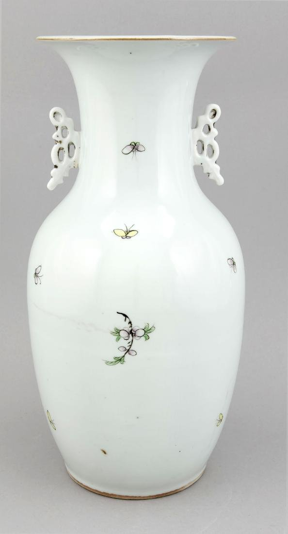 A 19th century Chinese famille rose vase, porcelain, - 2