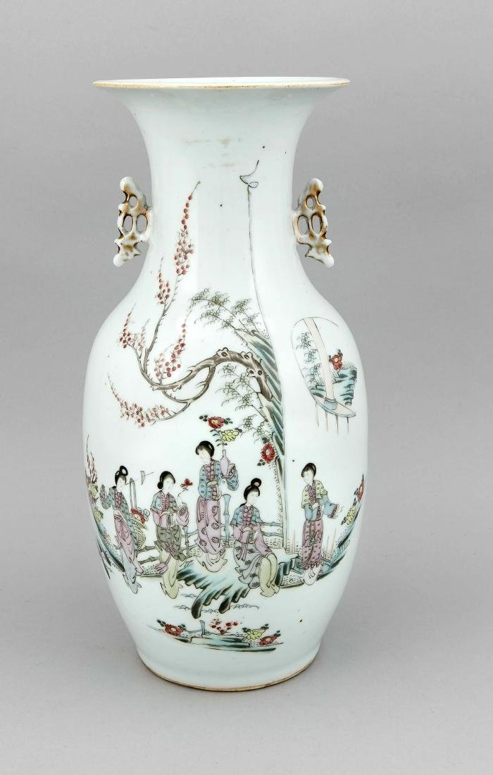 A 19th-century Chinese famille rose baluster vase,