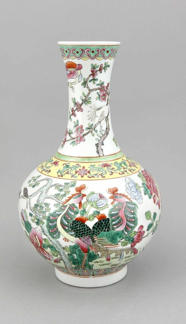 A 19th/20th-century Chinese famille rose vase, the body