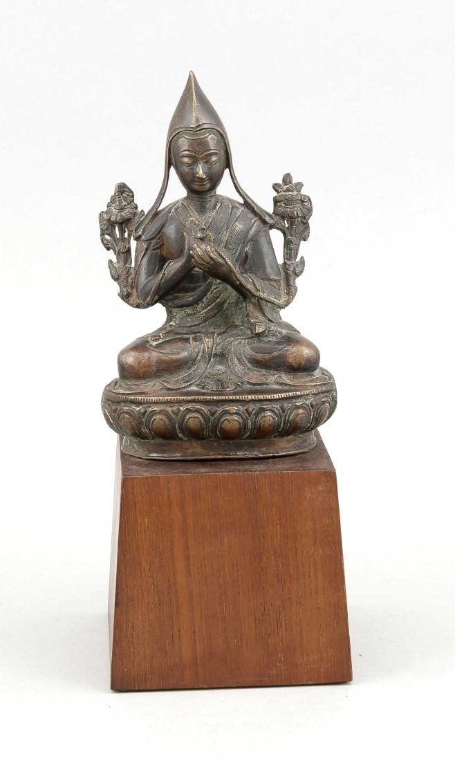 A 19th-century Tibetan Lama Padmasana figure with