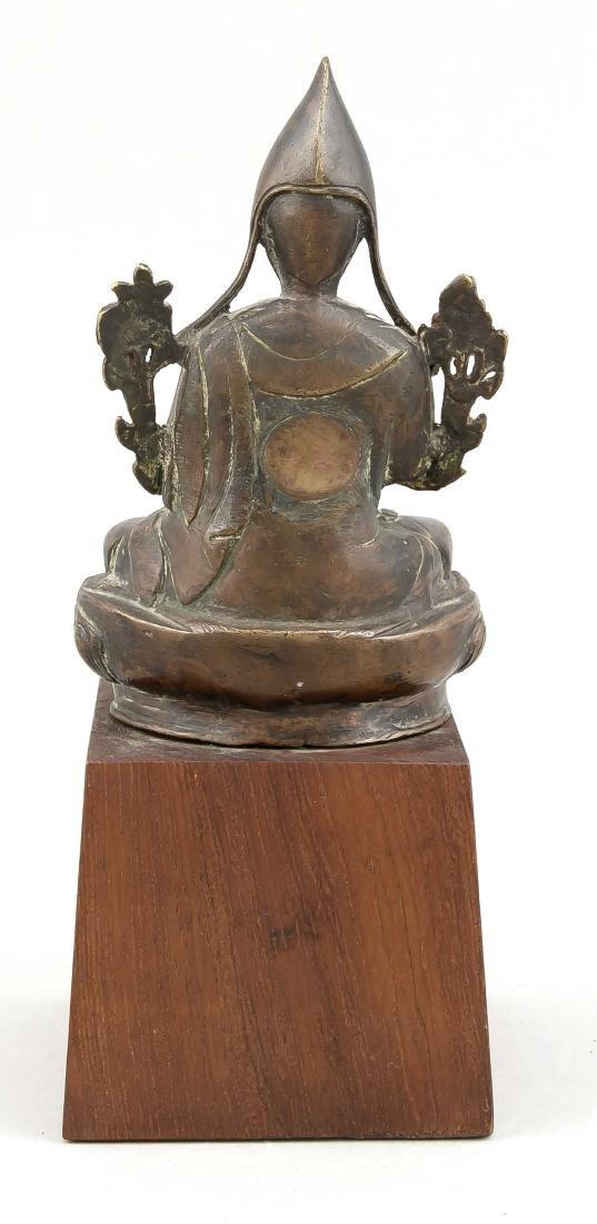 A 19th-century Tibetan Lama Padmasana figure with - 2