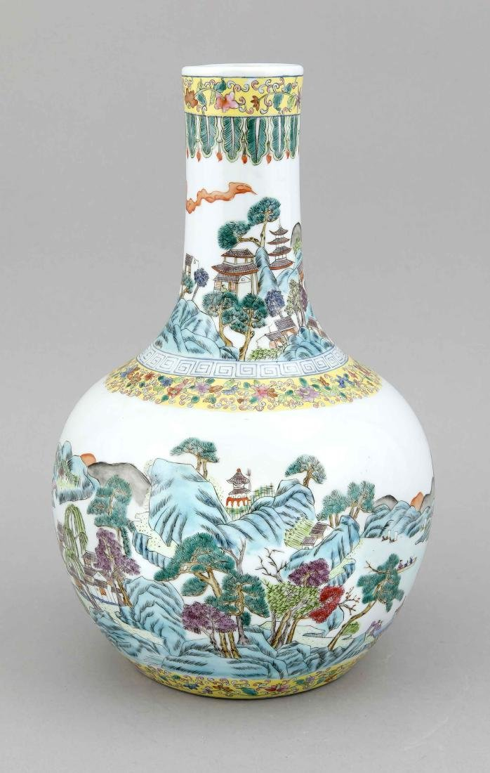 A 20th-century Chinese case, of bulbous form with