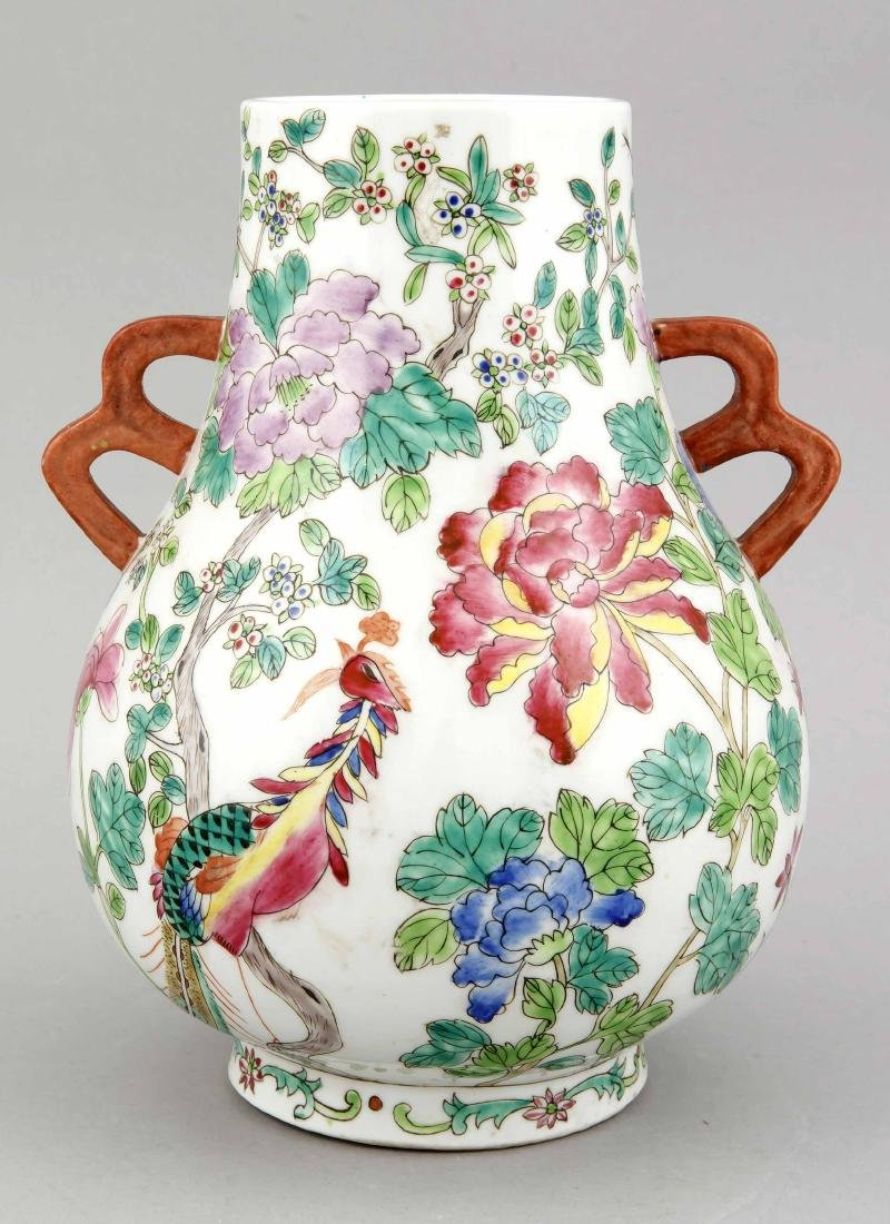 A Chinese vase, 1st half 20th c., of Hu form, - 2