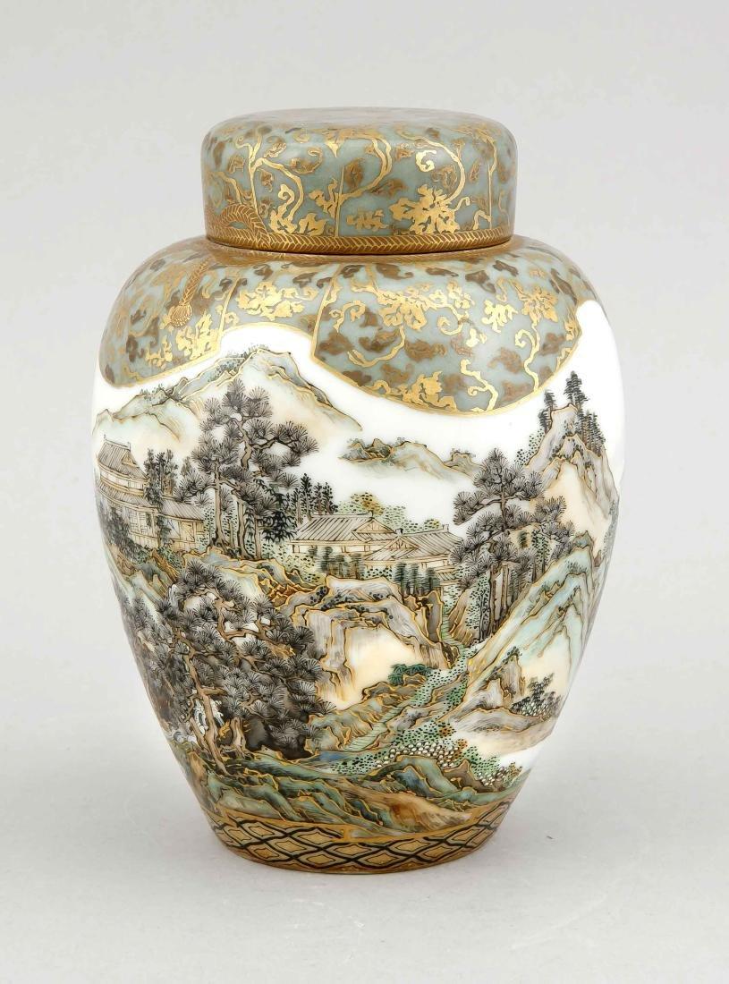 Satsuma vase with landscape decor, Japan, 19th century