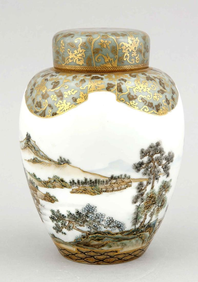 Satsuma vase with landscape decor, Japan, 19th century - 2