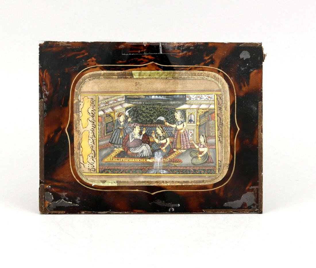 A 19th-century Indian miniature painting, Moghul