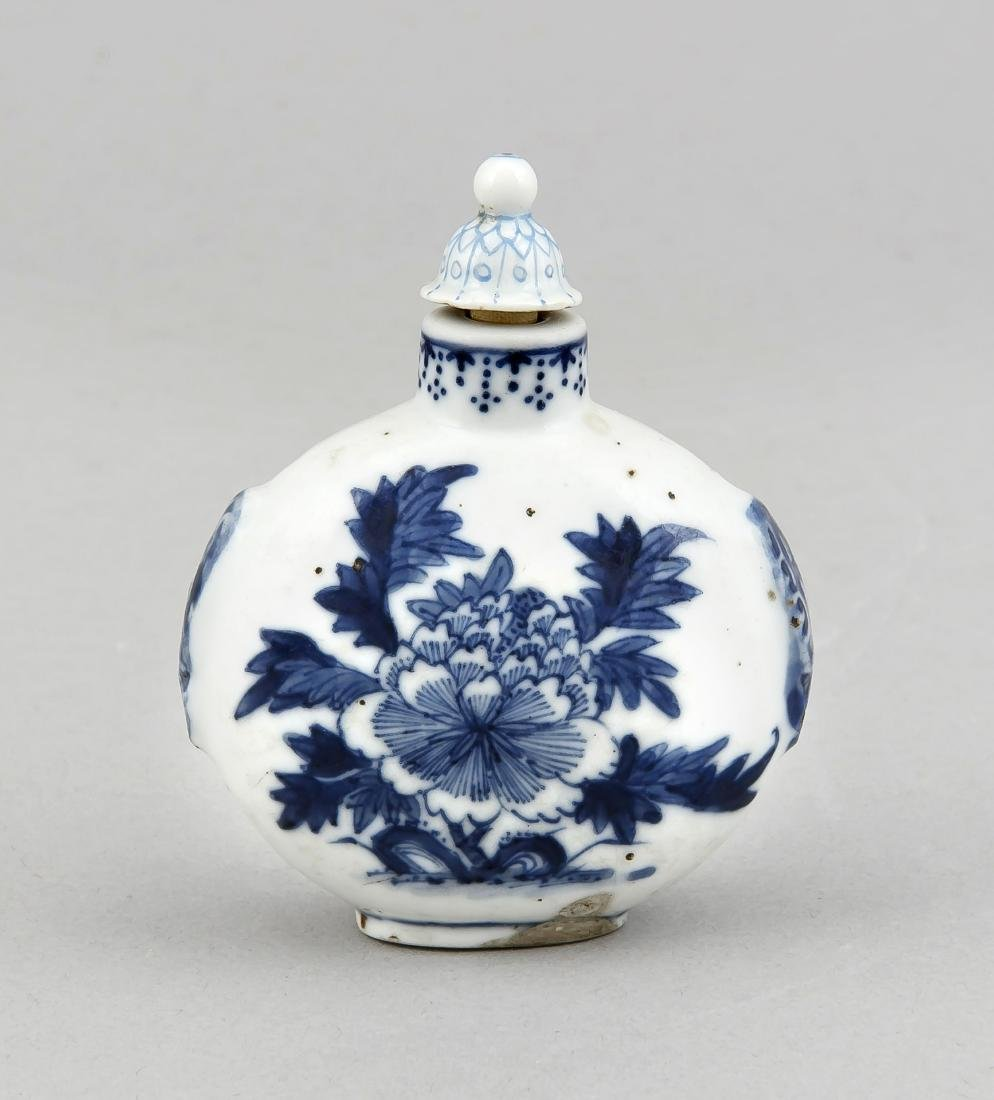 A 19th-century Chinese snuffbottle, painted with