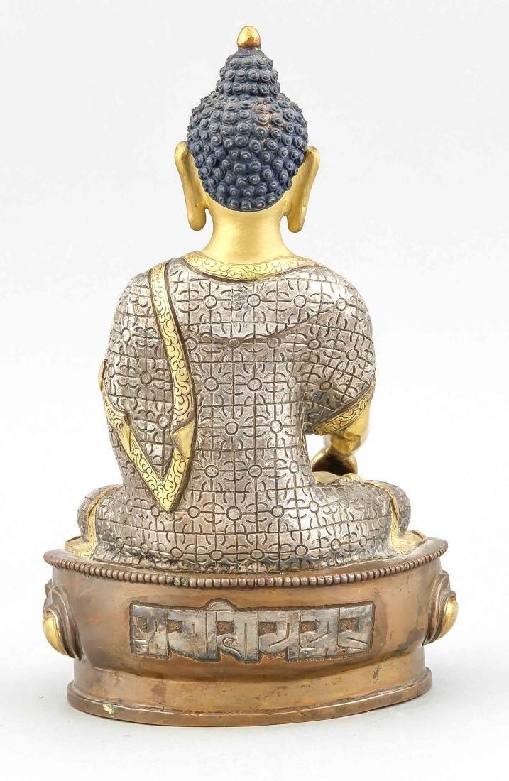 A 20th-century Buddha Padmasana on lotus base, - 2
