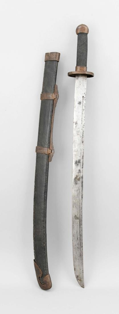 Saber Asia 19th century, slightly curved, heavy
