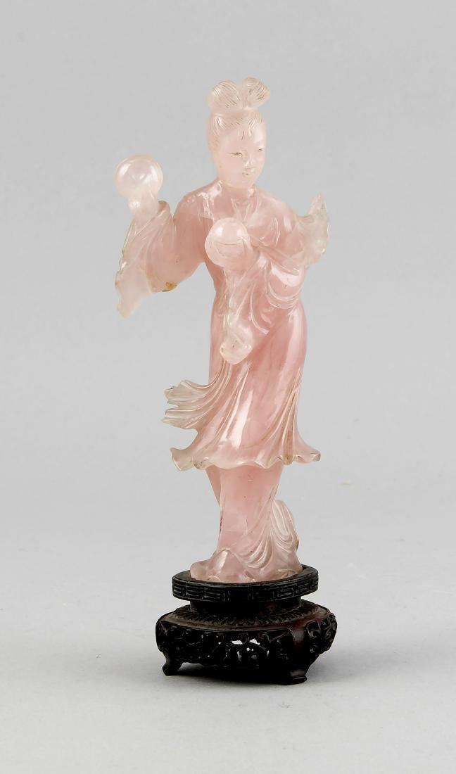 Statuette einer Frau (Guanyin?), China um 1900,