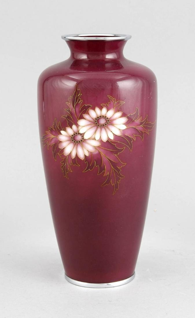 Cloisonnévase, China/Japan, Mitte 20. Jh., solitäres