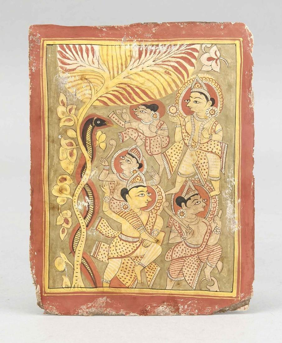 Miniaturmalerei, Jain-Schule, Indien, Ende 19. Jh.,