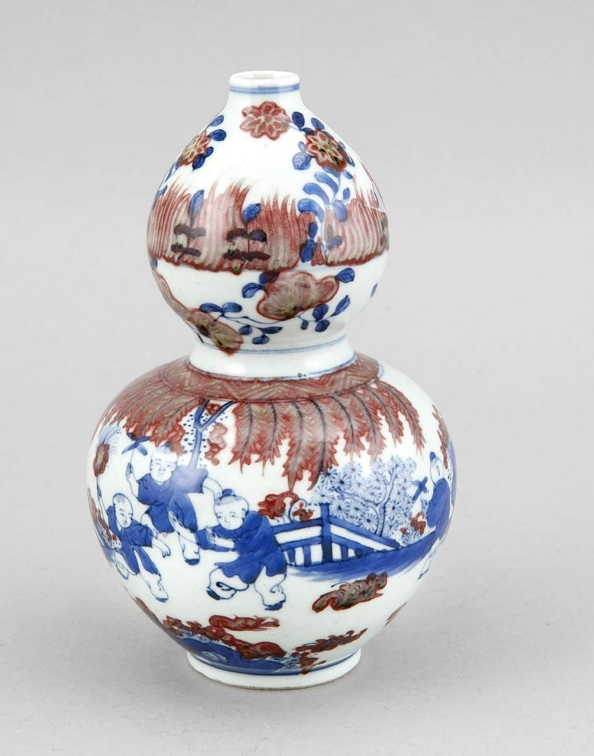 Flaschenkürbisvase, China, 19./20. Jh. Dekor in