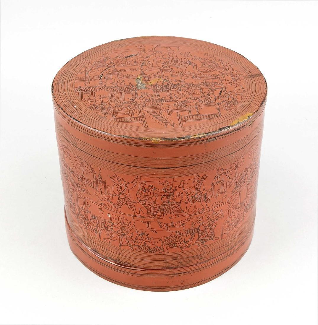 Große runde Lackdose (Kun it/Betel-box), Burma