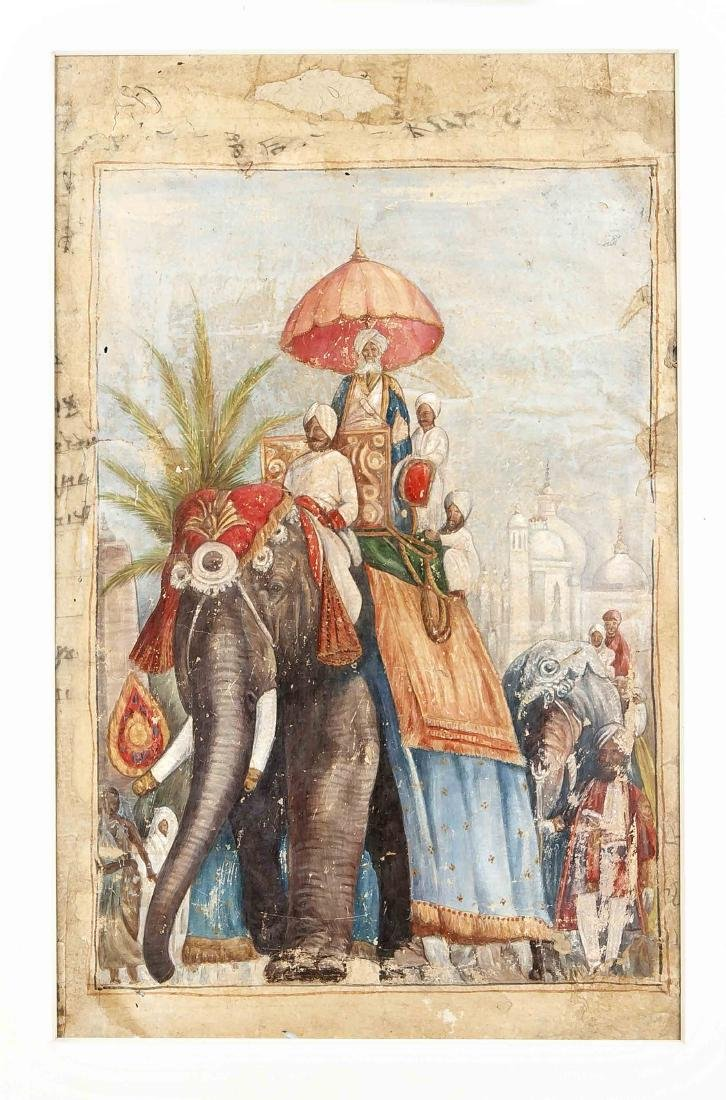 Miniaturmalerei, Indien, Company-Schule, Ende 19. Jh.,