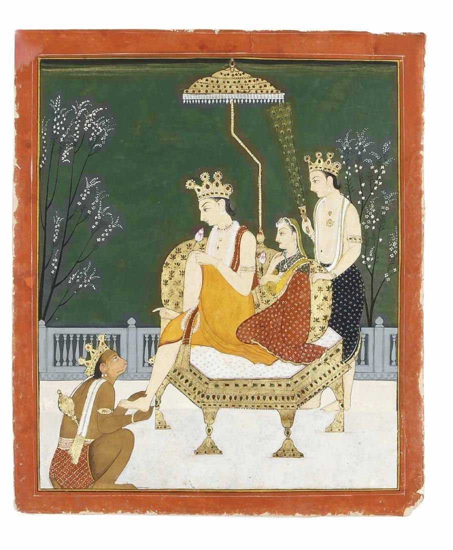 Miniaturmalerei, Indien, wohl Mitte 19. Jh.,