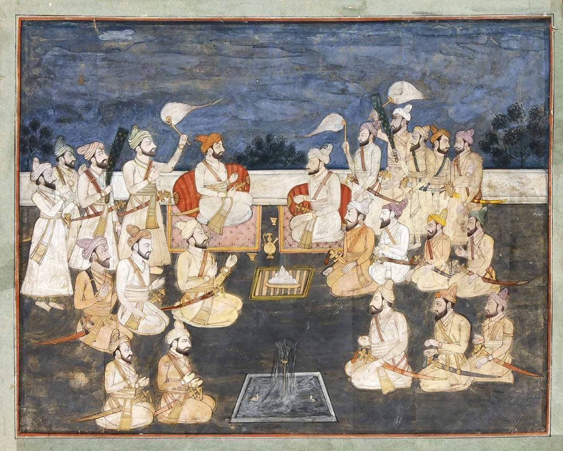 Miniaturmalerei, Indien, Punjab-Schule, Mitte 19. Jh.,
