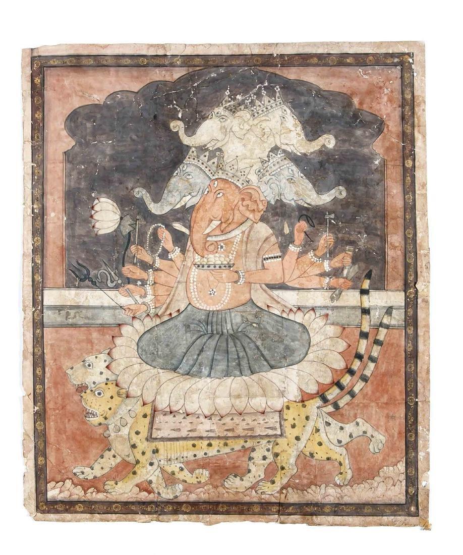 Indische Malerei, Pahari-Kangra-Schule, wohl 2. H. 19.