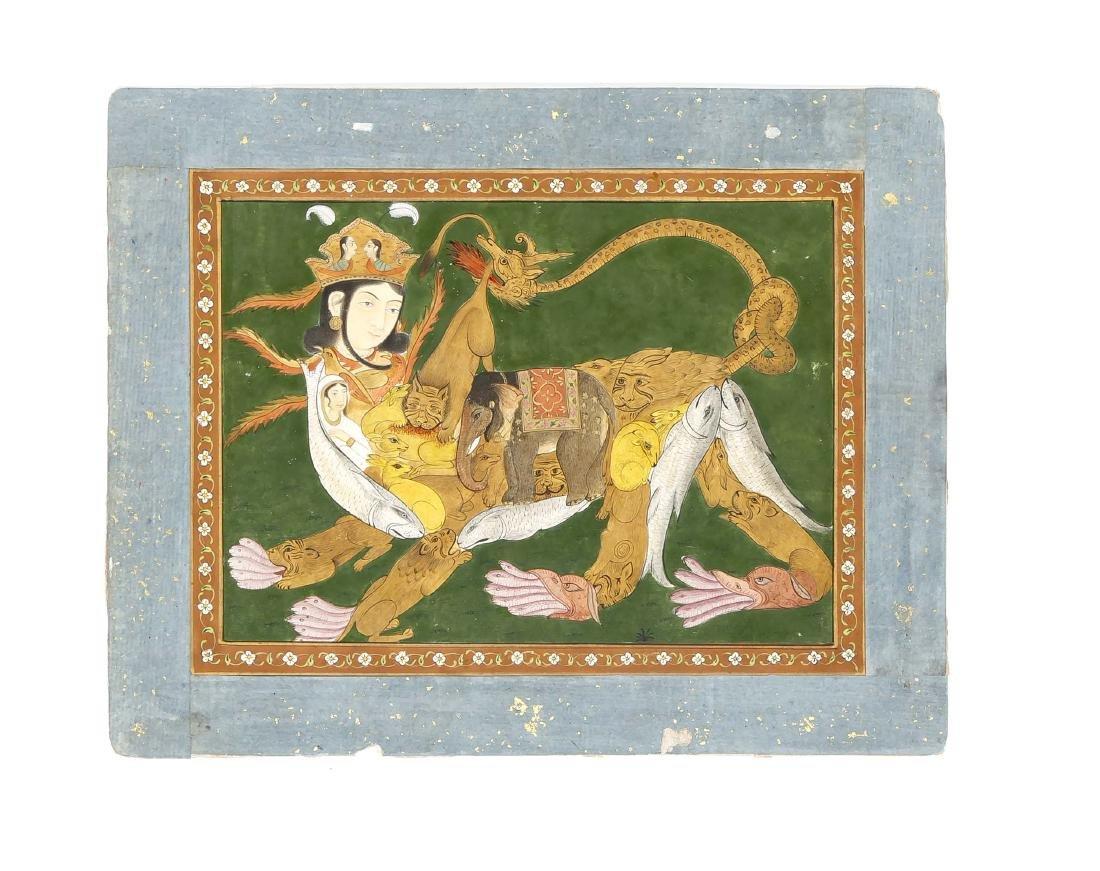Miniaturmalerei, Indien, wohl 19. Jh., Deccan-Schule.