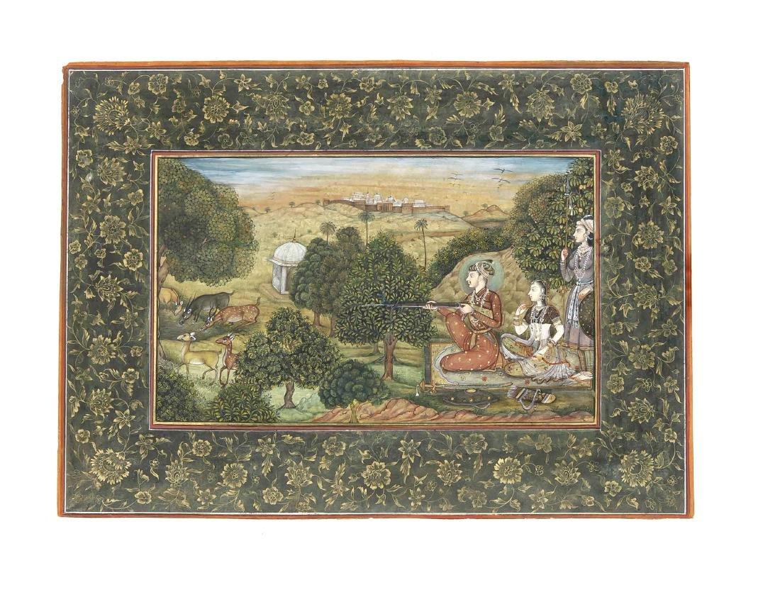 Miniaturmalerei, Moghul-Schule, Indien wohl Anfang 20.