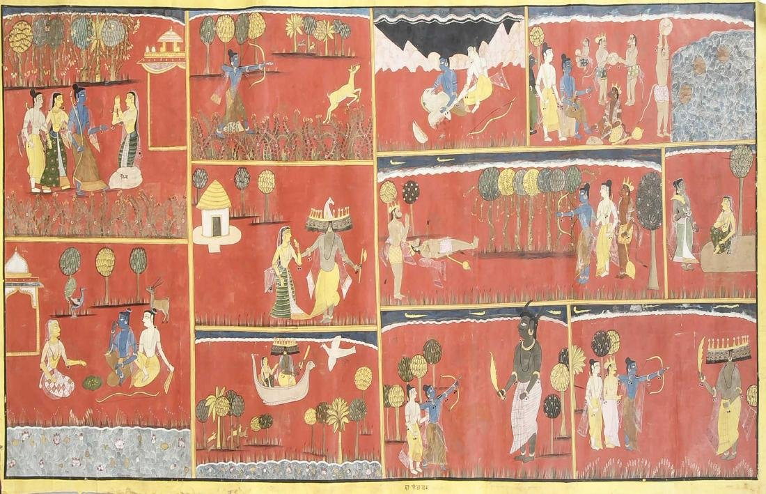 Indische Malerei, Gujarat-Schule um 1900. Pigment auf