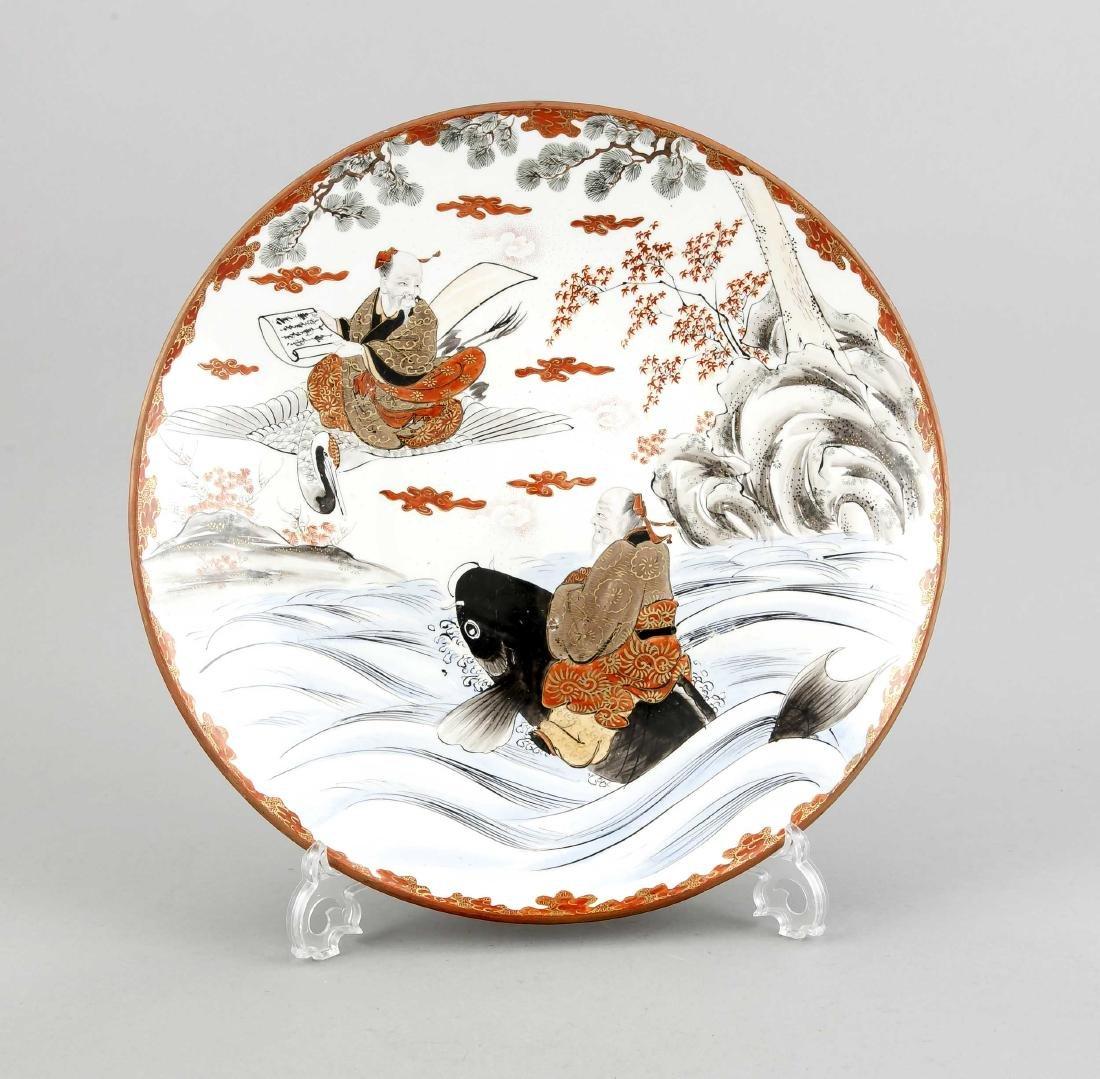 A Japanese plate, Edo period, 1st h. 19th c.,