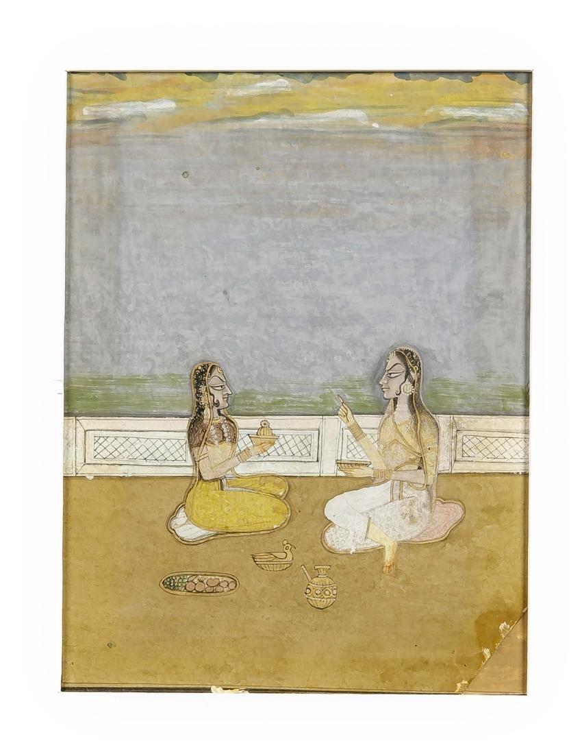Miniaturmalerei, Indien, Rajastan (Kishangarh), wohl um