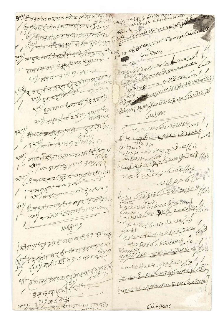 Kalligrafie im Stil persischer Koranbuchseiten, Indien, - 2