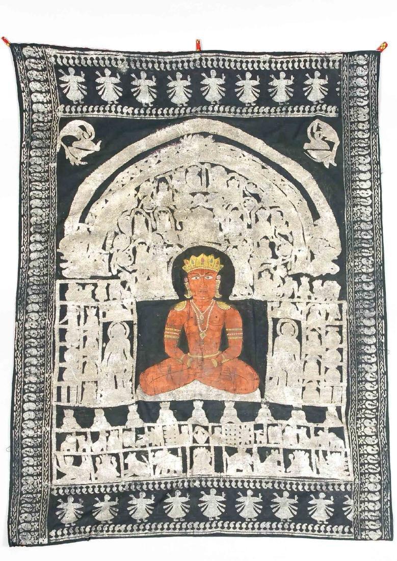 Pichwai, Deccan-Schule, Indien, wohl 19. Jh., Rama? im