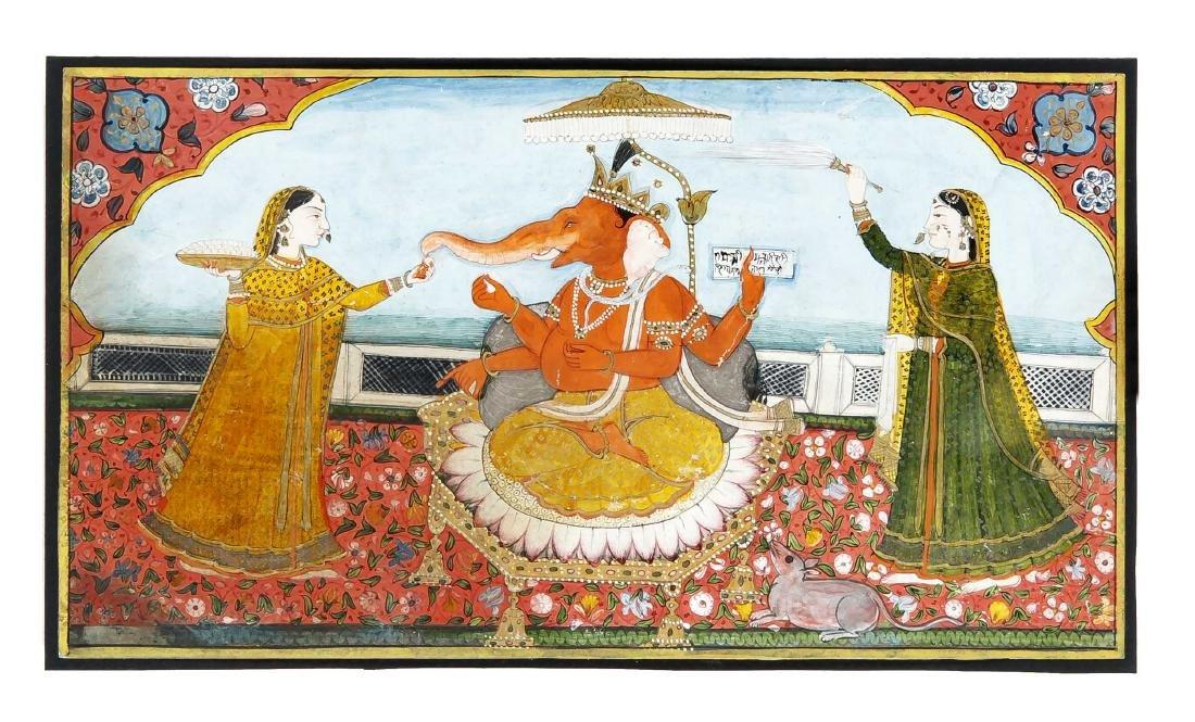 Miniaturmalerei, Indien, um 1850, Pahari-Kangra- oder