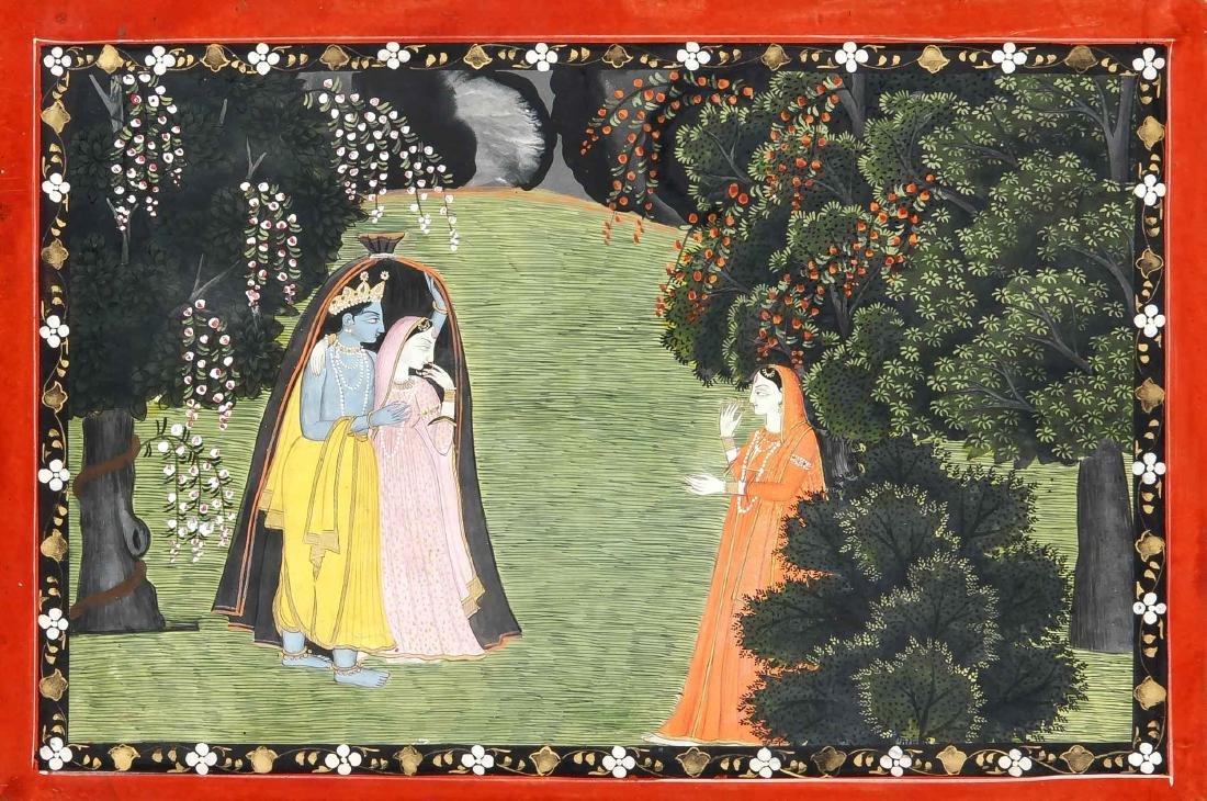 Miniaturmalerei, Pahari-Kangra-Schule, Indien, wohl um