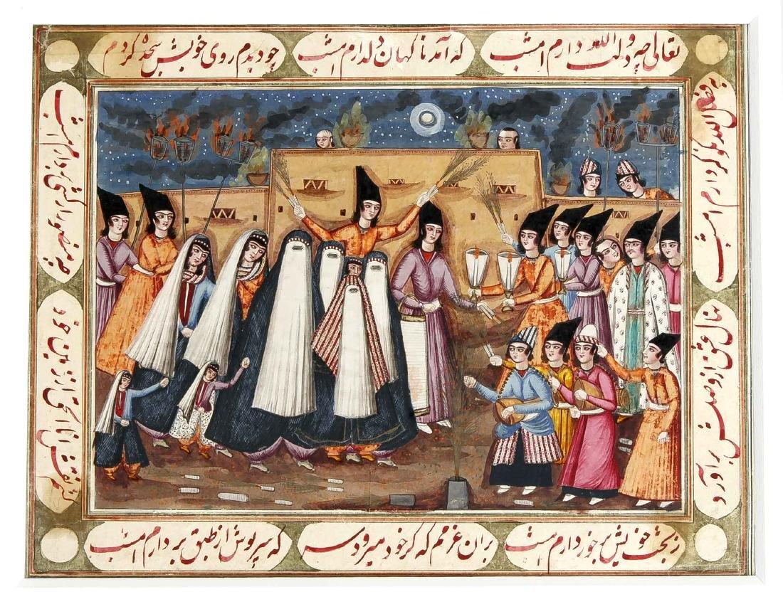 Miniaturmalerei, Persien/Iran (Qajar), um 1840. Opake