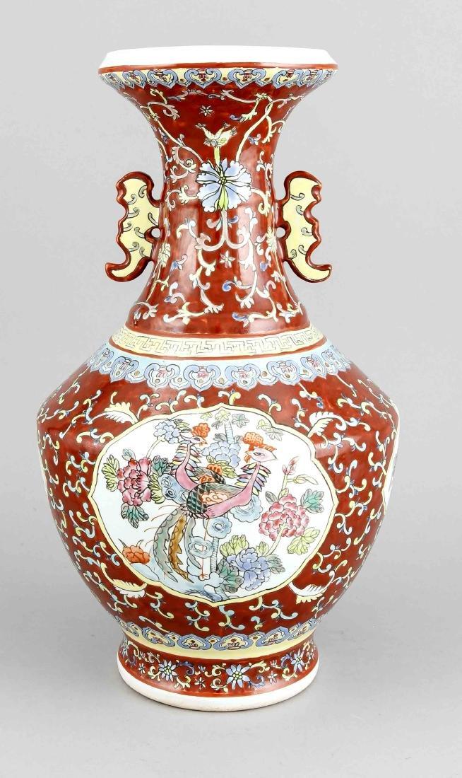 Vase, China, 20. Jh., Korpus mit 4 weißgrundigen - 2