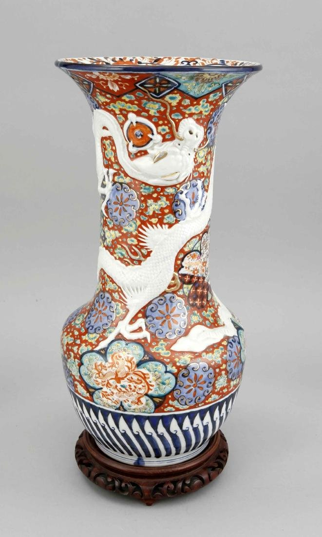 Imari Dragon Vase, Japan, probably 19th c.